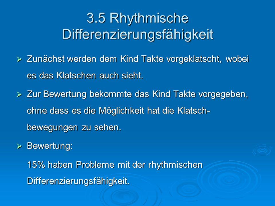 3.5 Rhythmische Differenzierungsfähigkeit