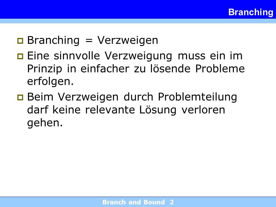 Branching = Verzweigen