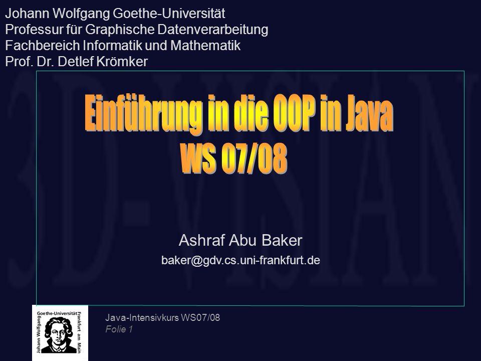 Einführung in die OOP in Java