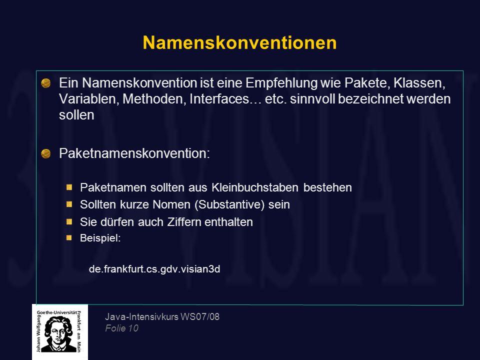 Namenskonventionen