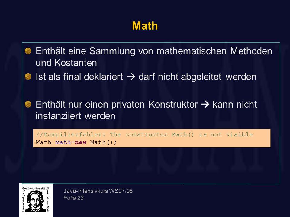 Math Enthält eine Sammlung von mathematischen Methoden und Kostanten