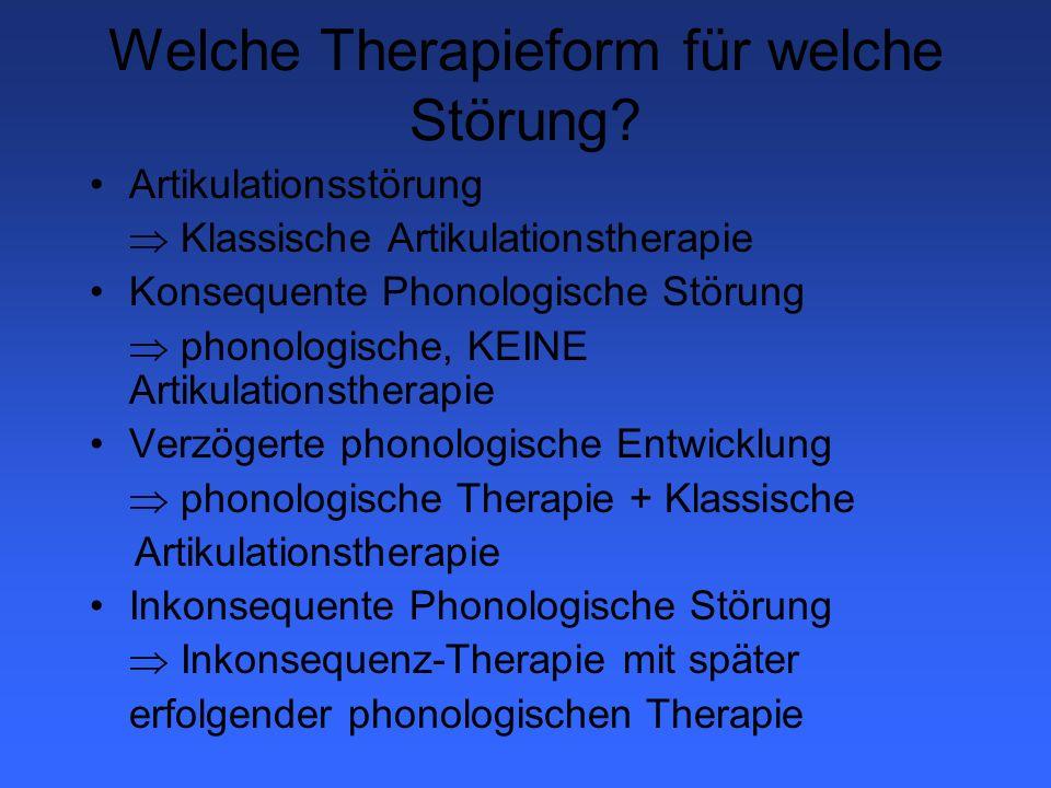 Welche Therapieform für welche Störung