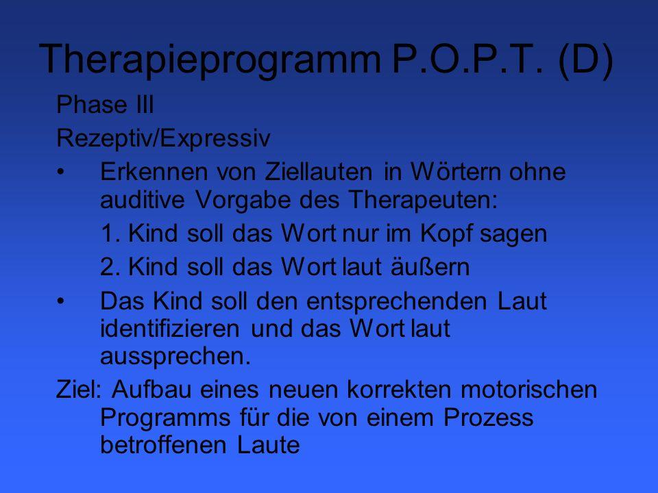 Therapieprogramm P.O.P.T. (D)