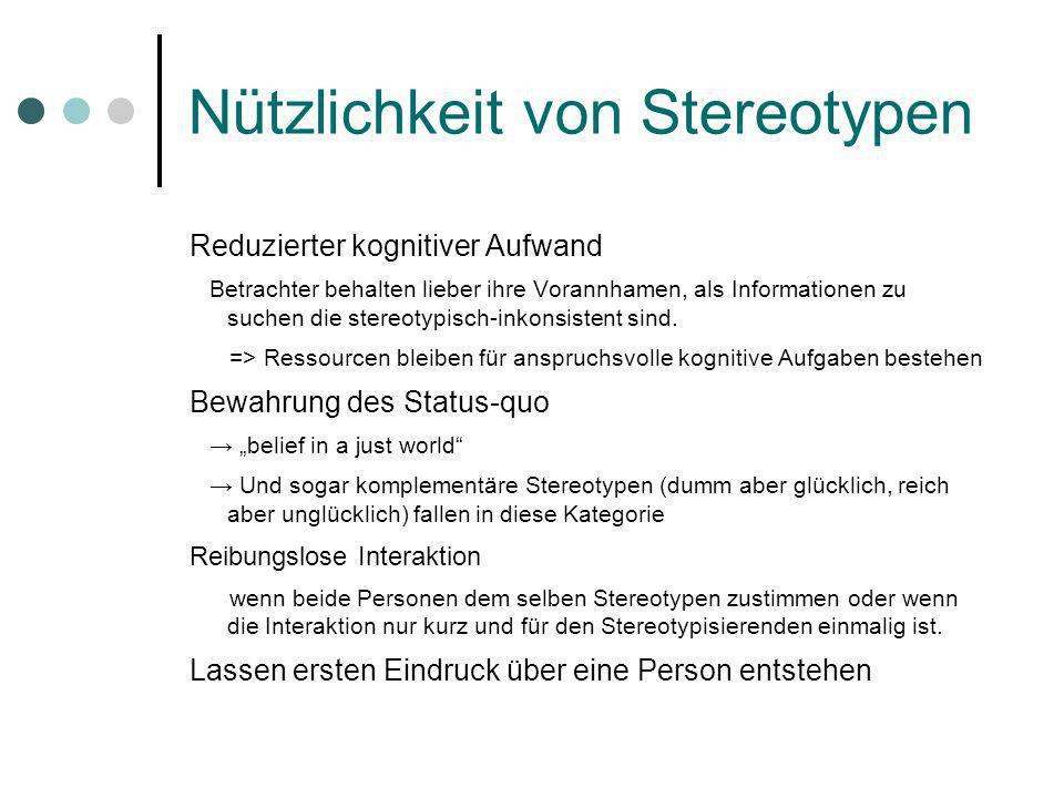 Nützlichkeit von Stereotypen