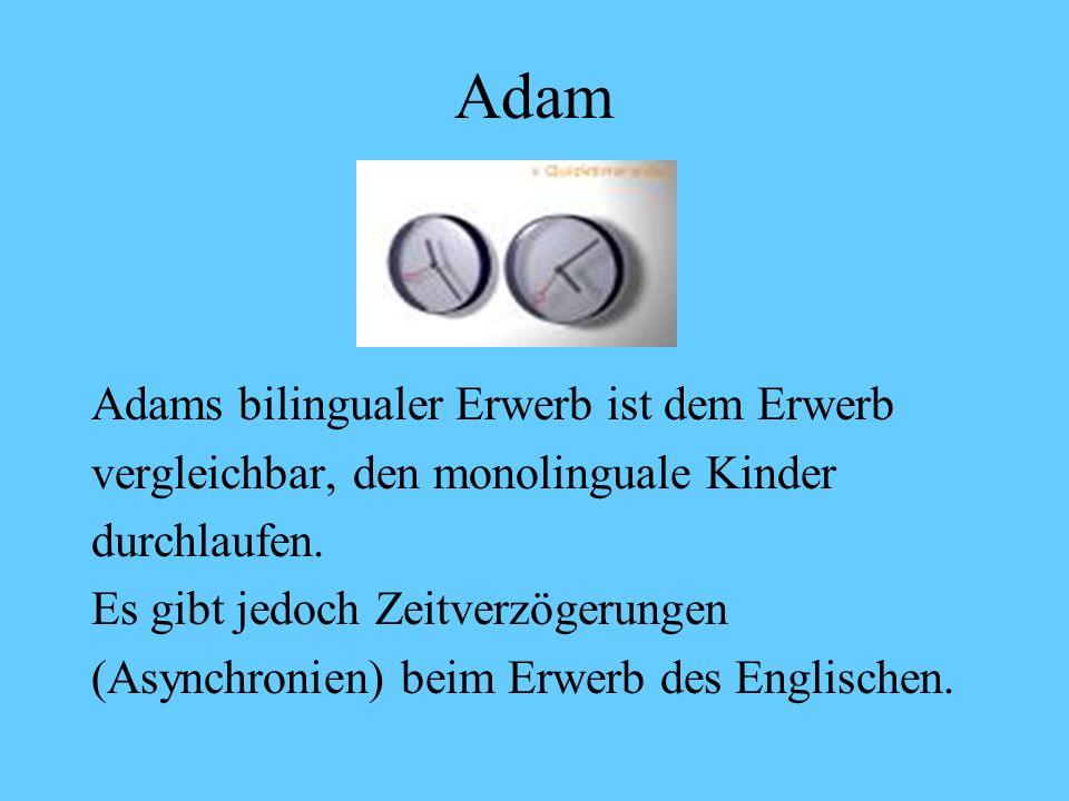 Adam Adams bilingualer Erwerb ist dem Erwerb