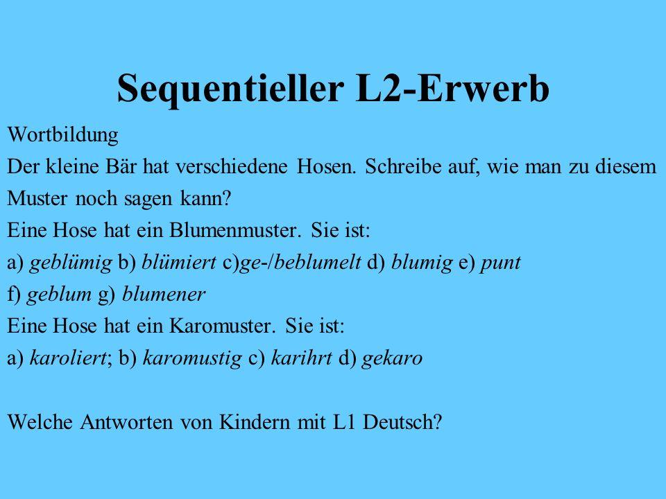 Sequentieller L2-Erwerb
