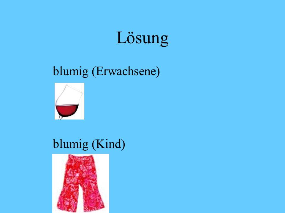 Lösung blumig (Erwachsene) blumig (Kind)