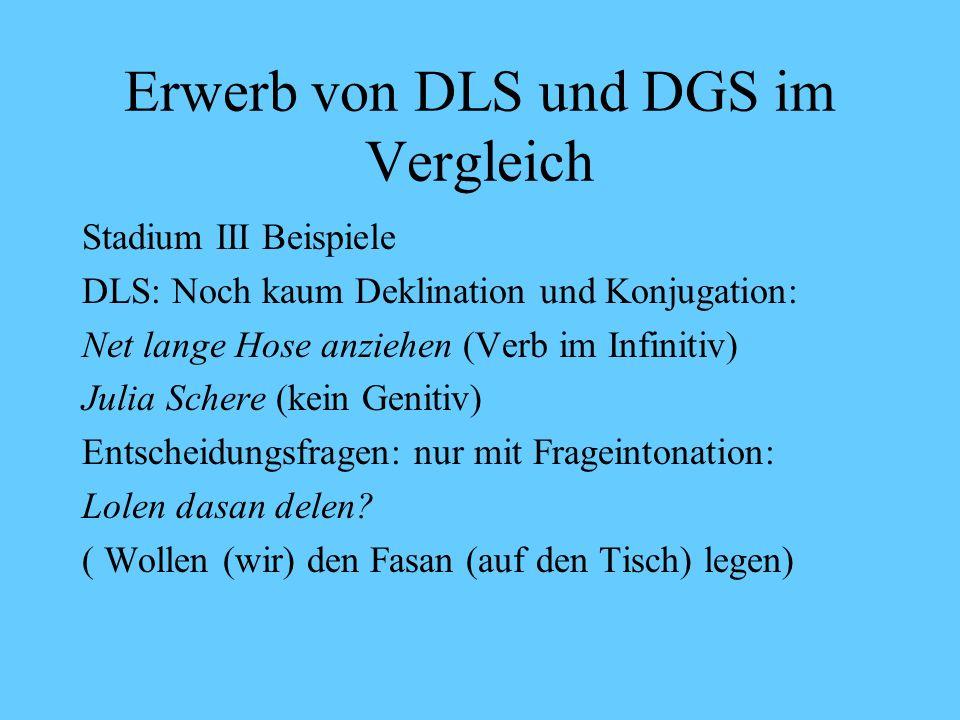 Erwerb von DLS und DGS im Vergleich