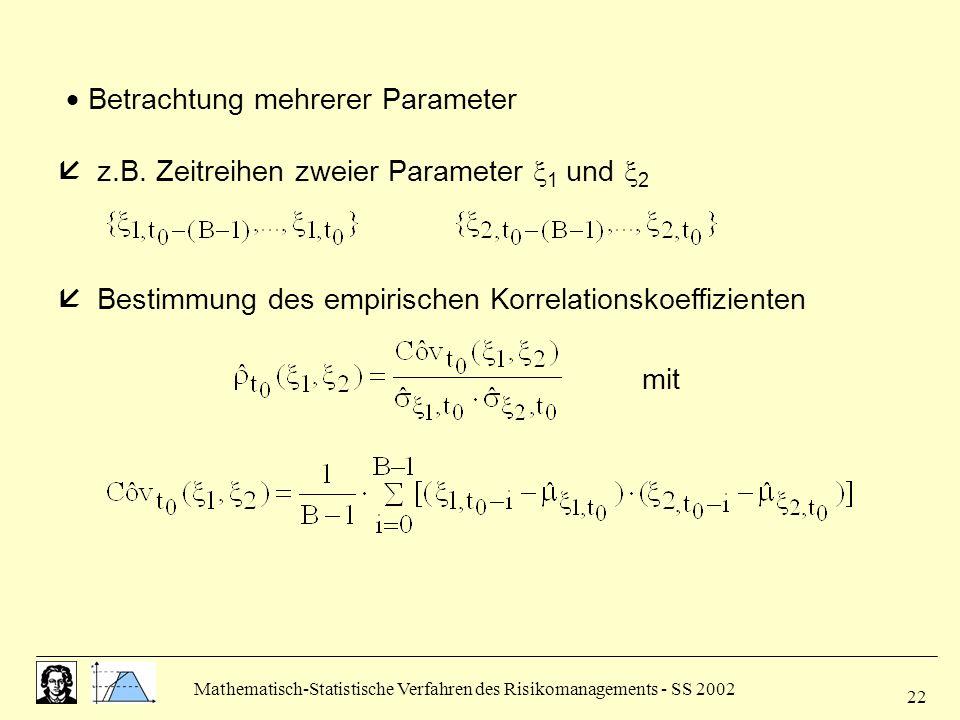  Betrachtung mehrerer Parameter