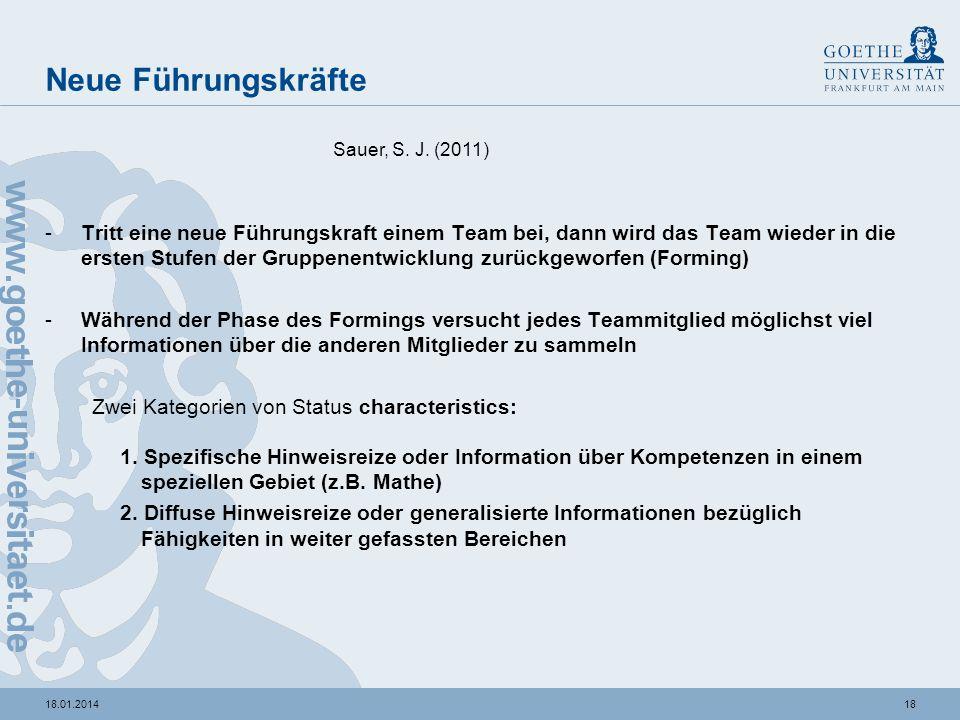 Neue FührungskräfteSauer, S. J. (2011)