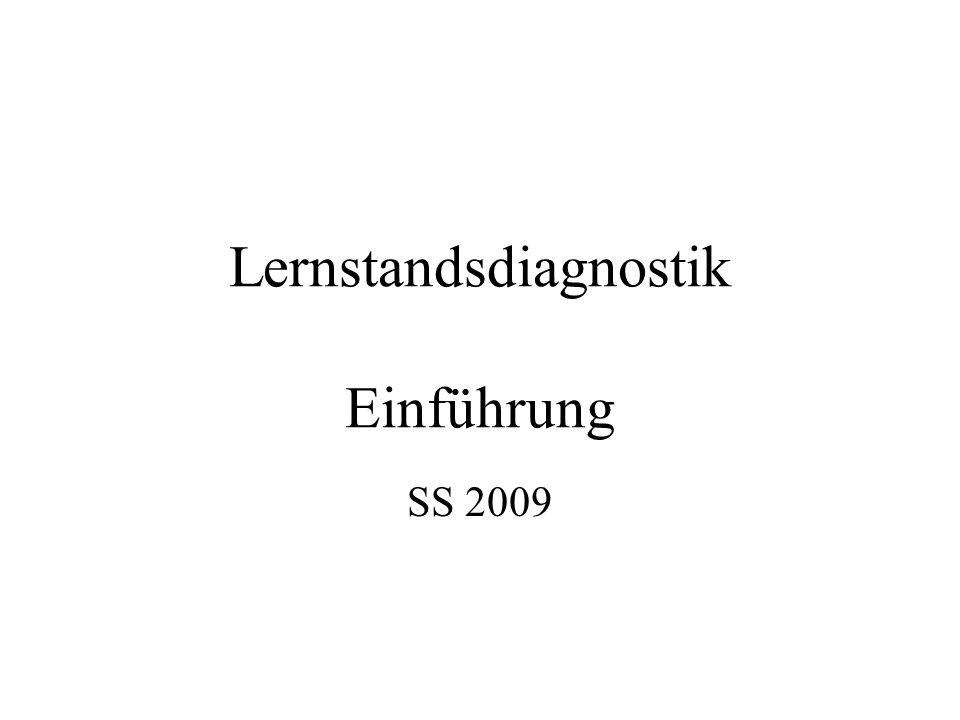 Lernstandsdiagnostik Einführung