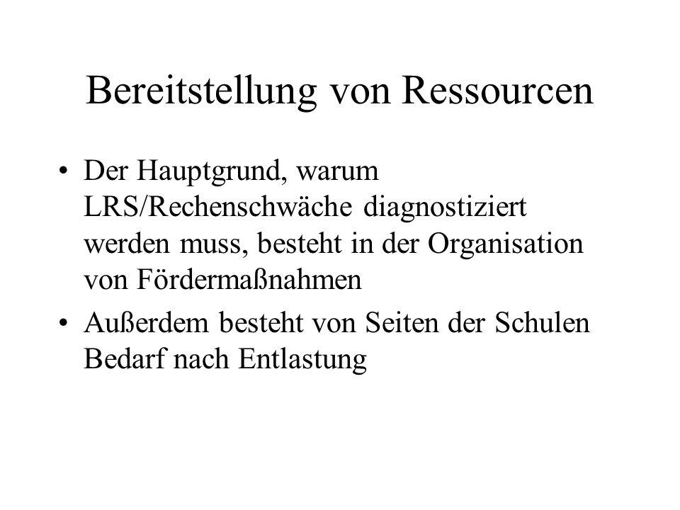 Bereitstellung von Ressourcen
