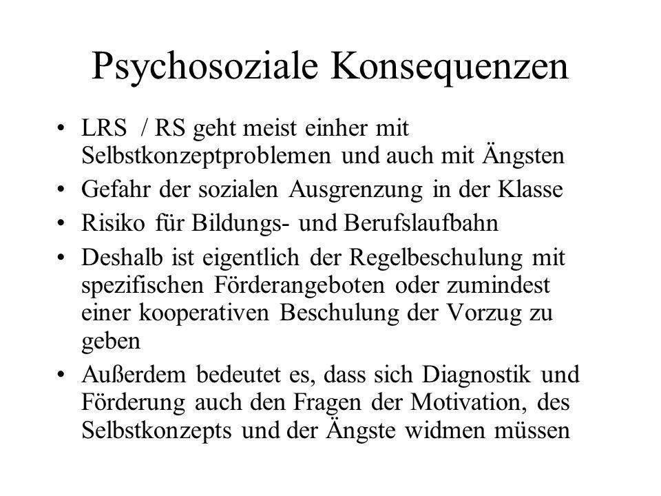 Psychosoziale Konsequenzen