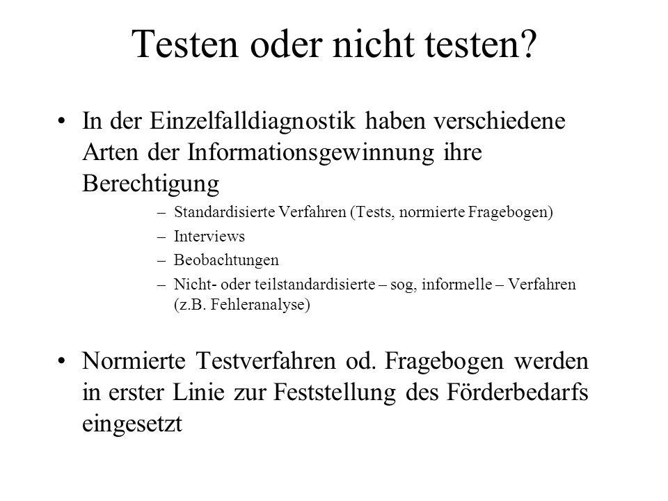 Testen oder nicht testen