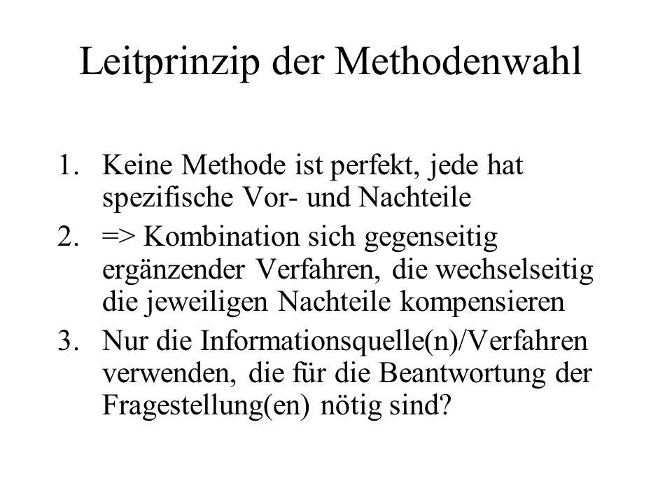 Leitprinzip der Methodenwahl