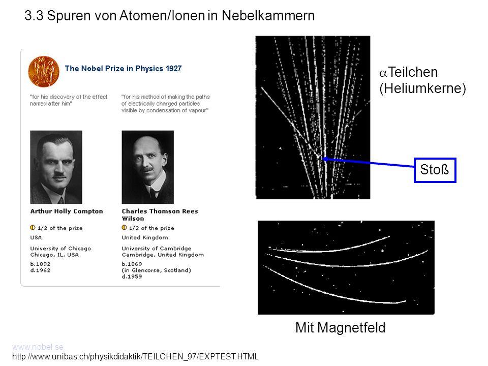 3.3 Spuren von Atomen/Ionen in Nebelkammern