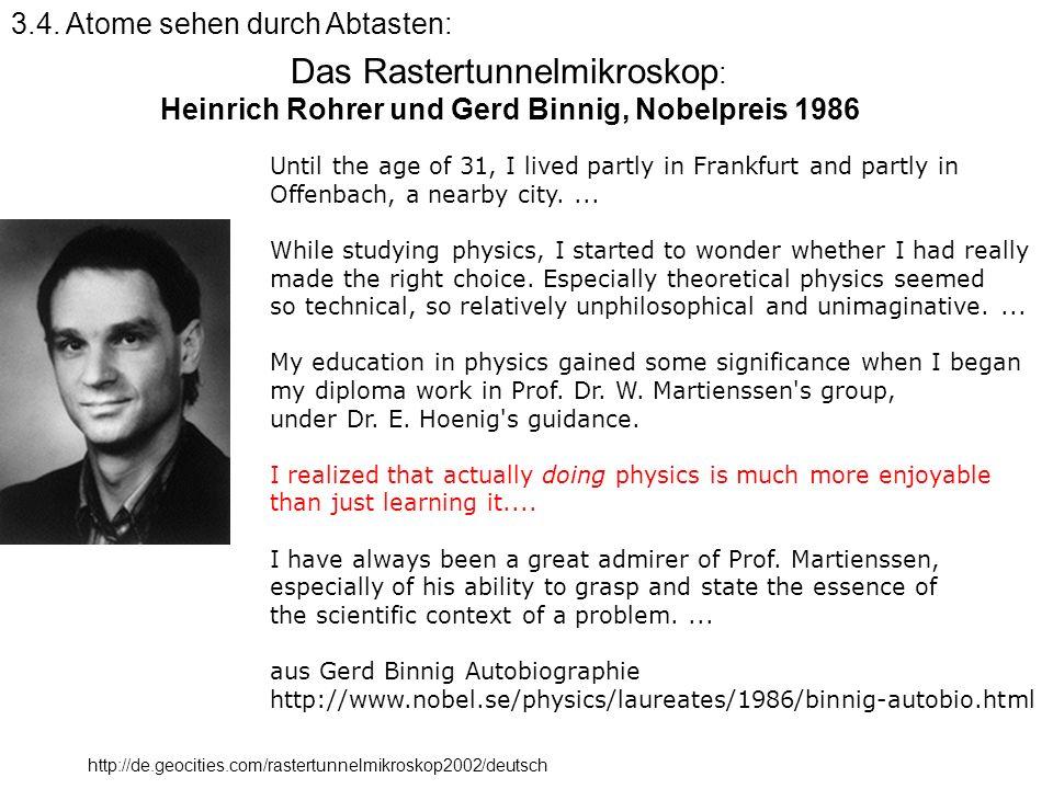 Heinrich Rohrer und Gerd Binnig, Nobelpreis 1986