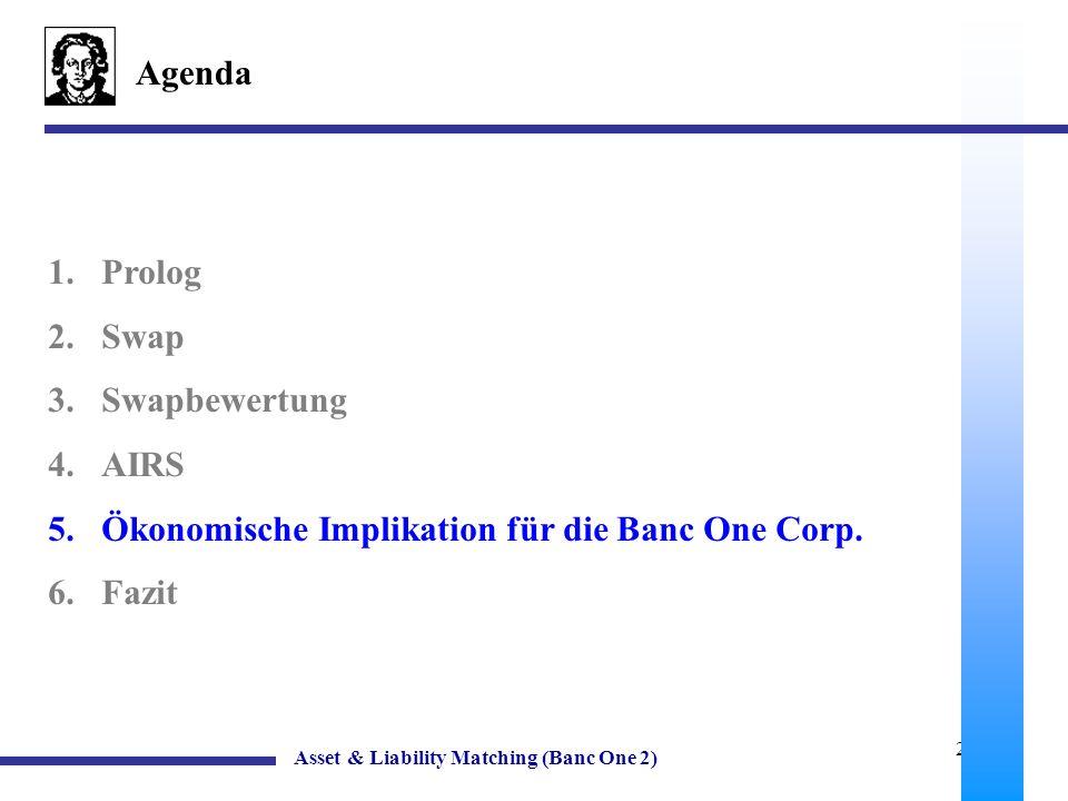 Ökonomische Implikation für die Banc One Corp. Fazit