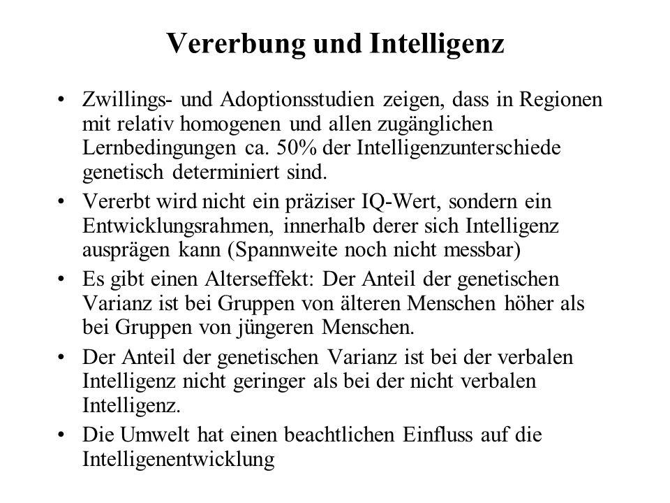 Vererbung und Intelligenz