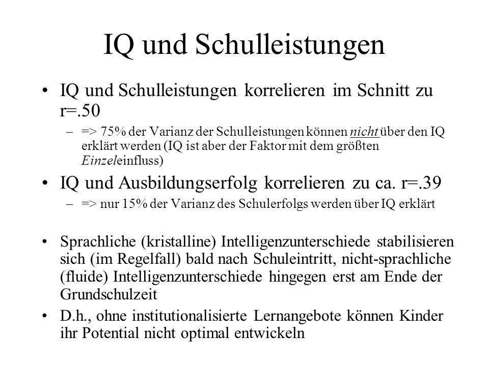 IQ und Schulleistungen