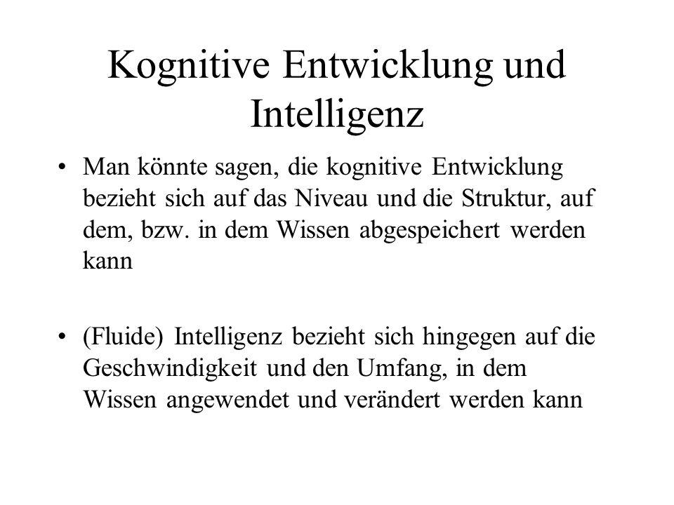 Kognitive Entwicklung und Intelligenz