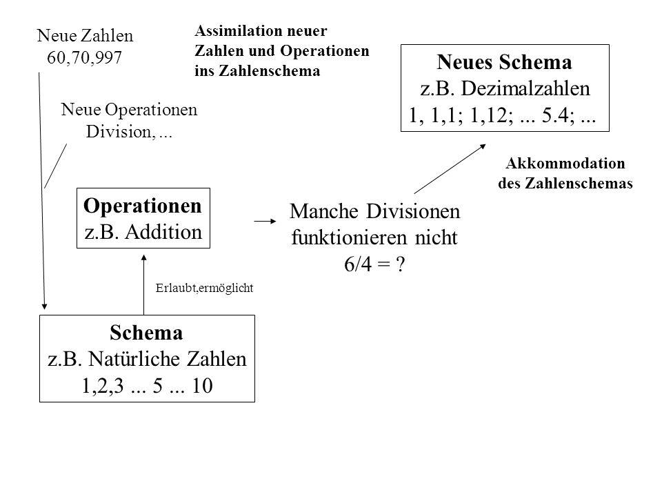 Akkommodation des Zahlenschemas