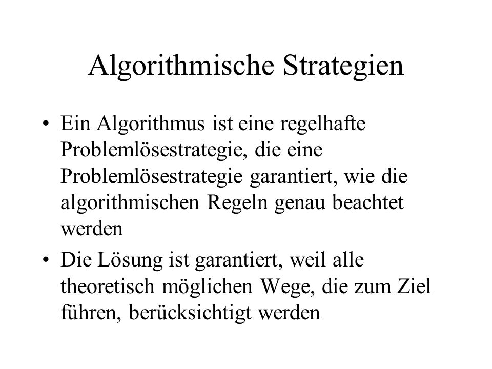 Algorithmische Strategien