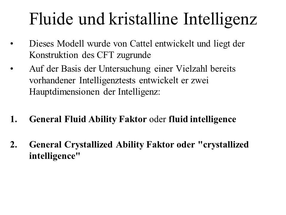 Fluide und kristalline Intelligenz