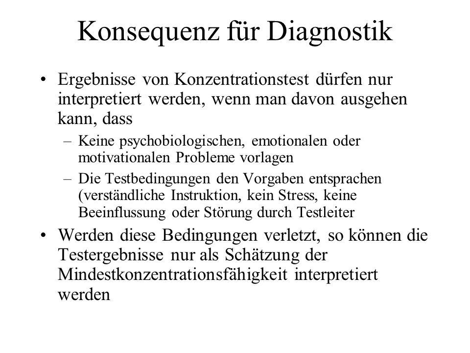 Konsequenz für Diagnostik