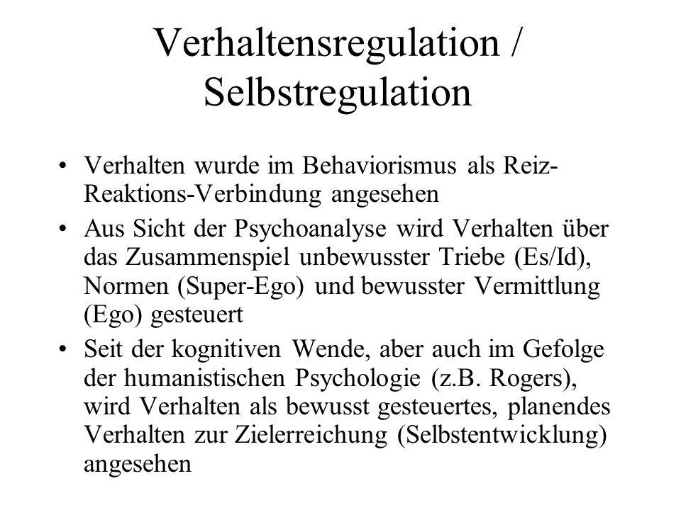 Verhaltensregulation / Selbstregulation