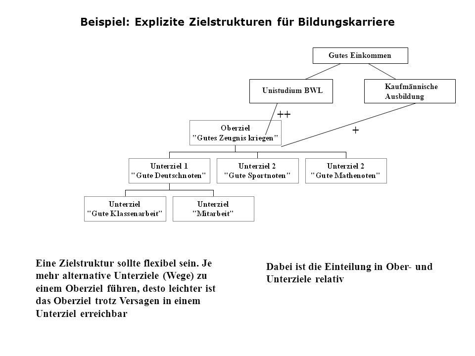 Beispiel: Explizite Zielstrukturen für Bildungskarriere