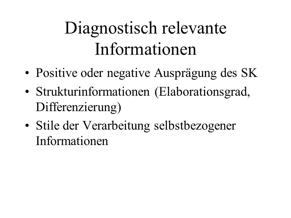 Diagnostisch relevante Informationen