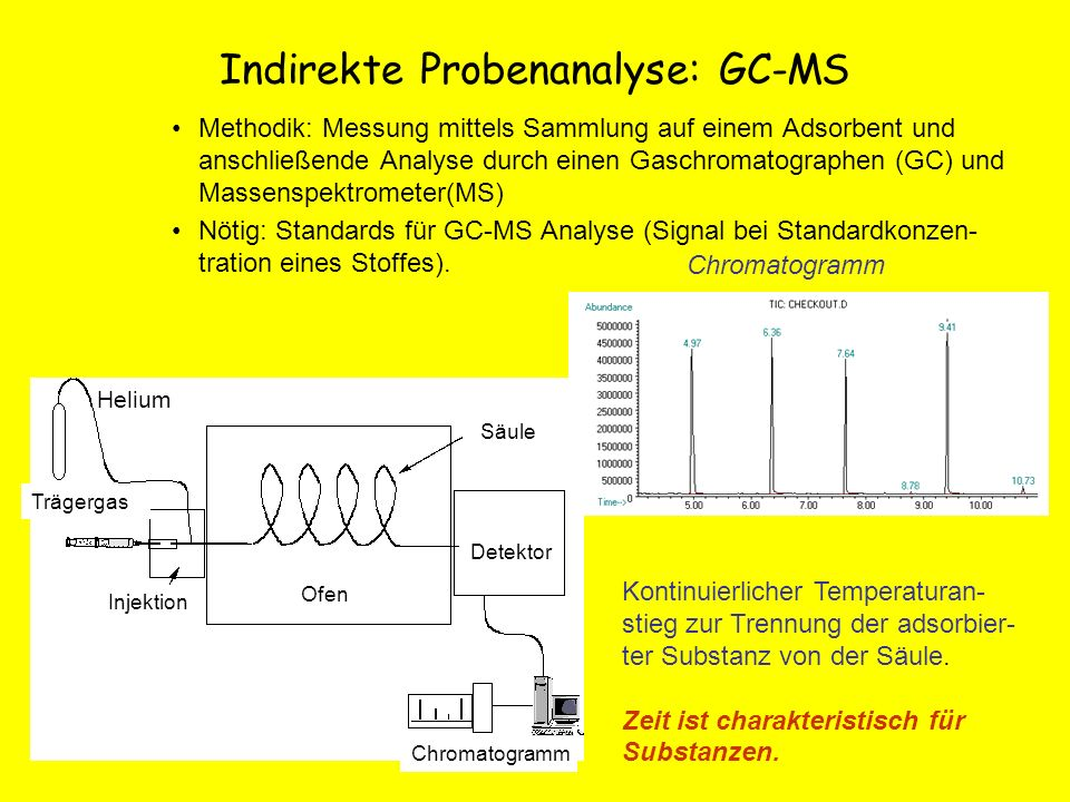 Indirekte Probenanalyse: GC-MS