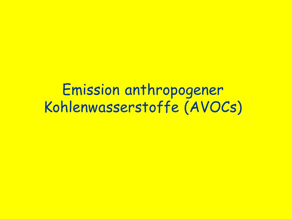Emission anthropogener Kohlenwasserstoffe (AVOCs)