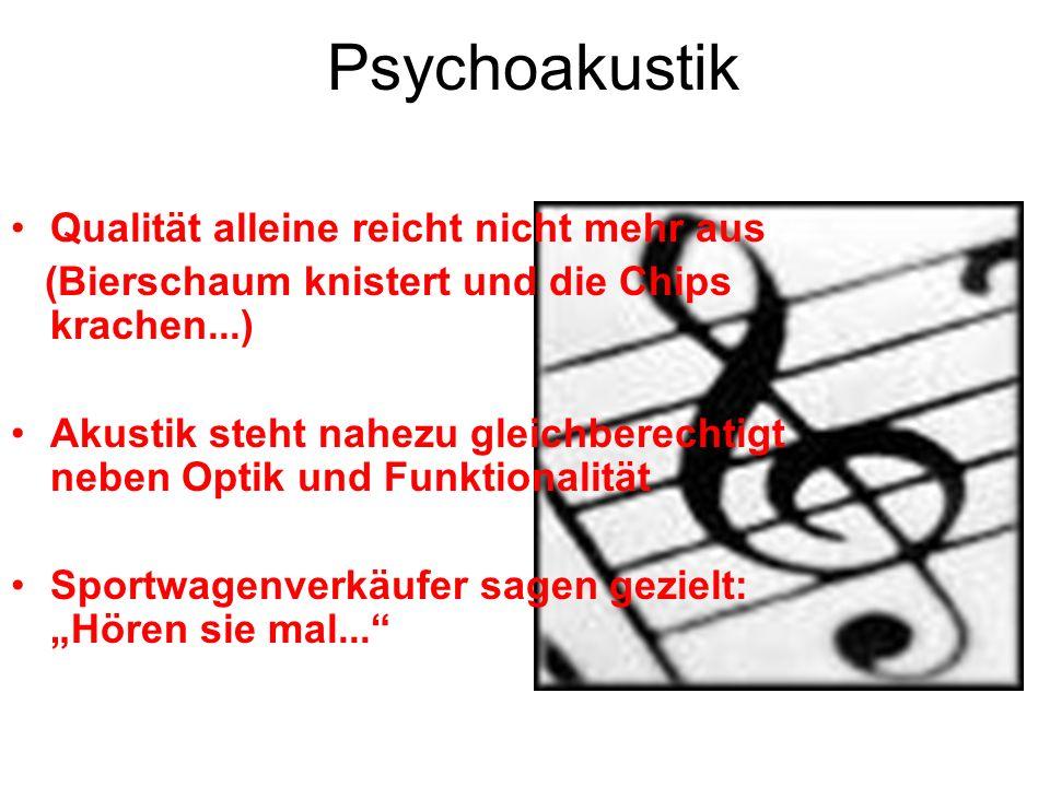 Psychoakustik Qualität alleine reicht nicht mehr aus