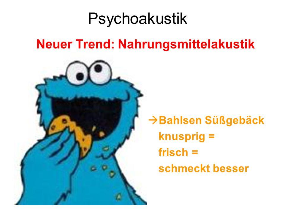 Psychoakustik Neuer Trend: Nahrungsmittelakustik Bahlsen Süßgebäck