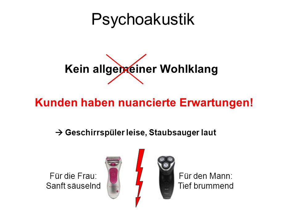 Psychoakustik Kein allgemeiner Wohlklang