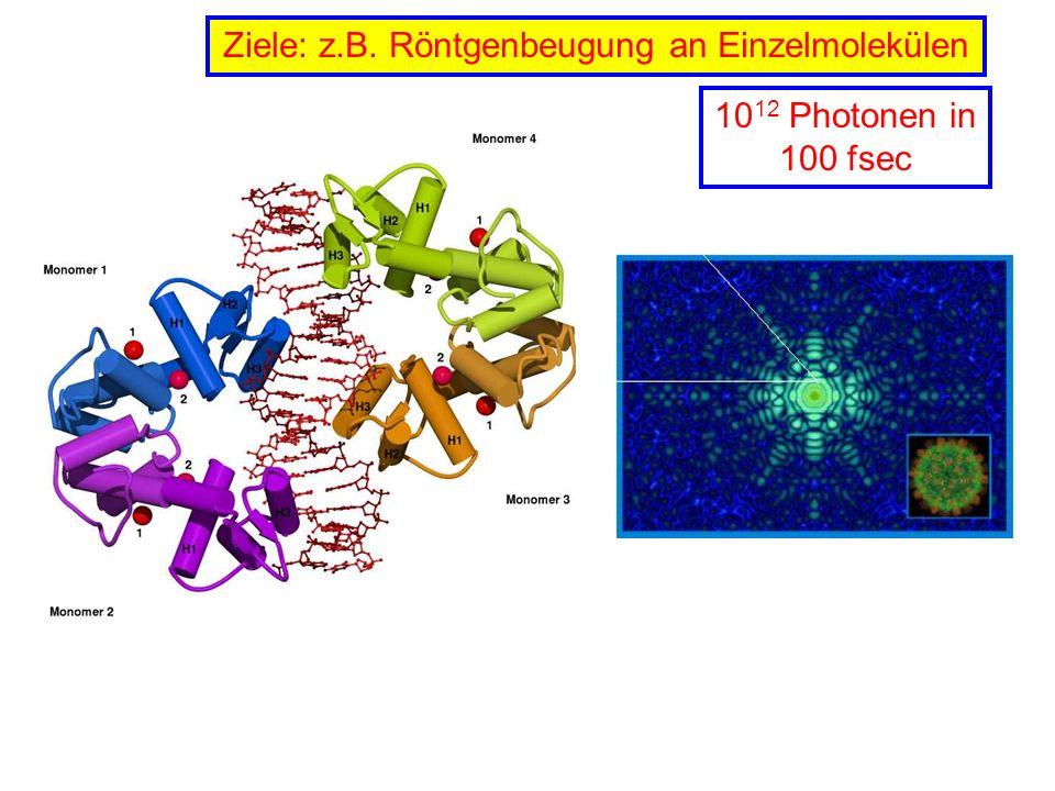 Ziele: z.B. Röntgenbeugung an Einzelmolekülen
