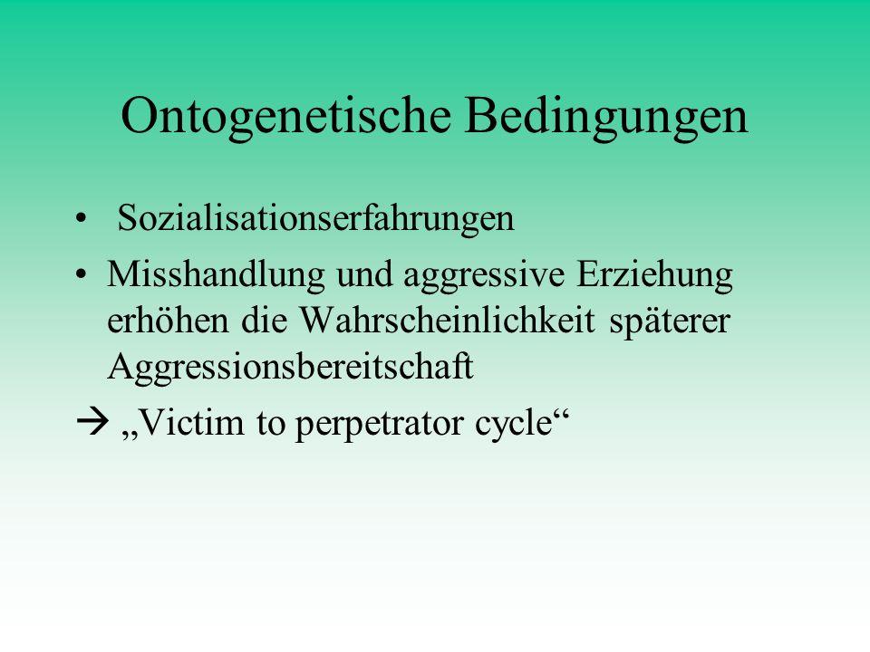 Ontogenetische Bedingungen