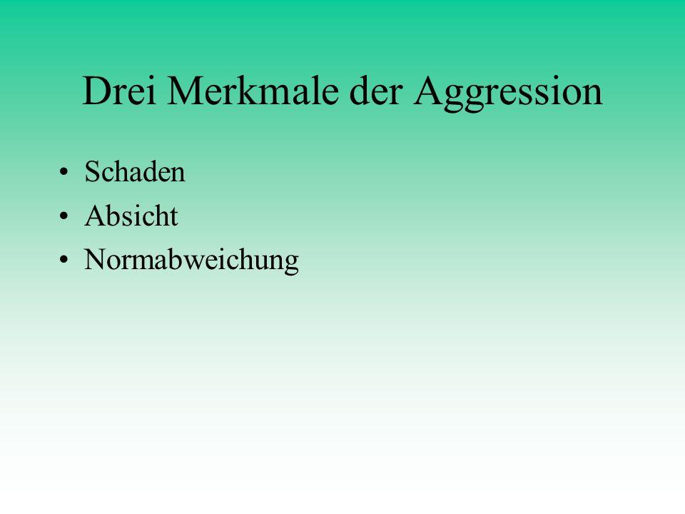 Drei Merkmale der Aggression