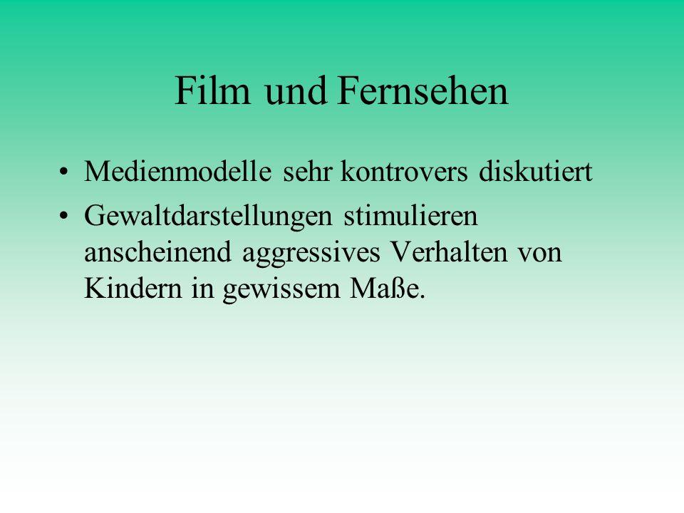Film und Fernsehen Medienmodelle sehr kontrovers diskutiert