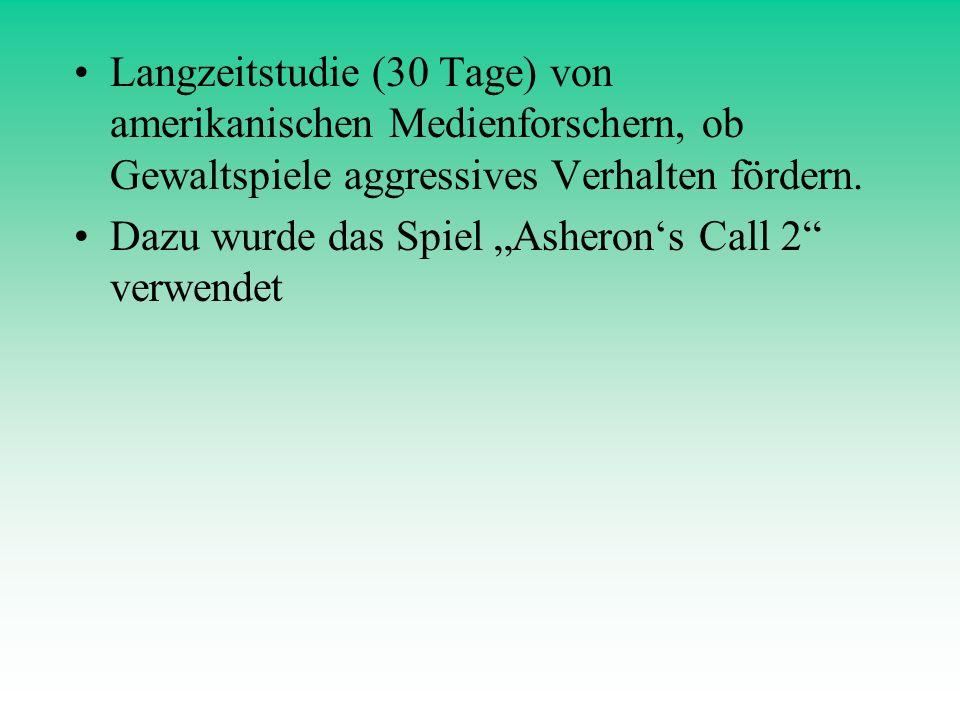 """Dazu wurde das Spiel """"Asheron's Call 2 verwendet"""