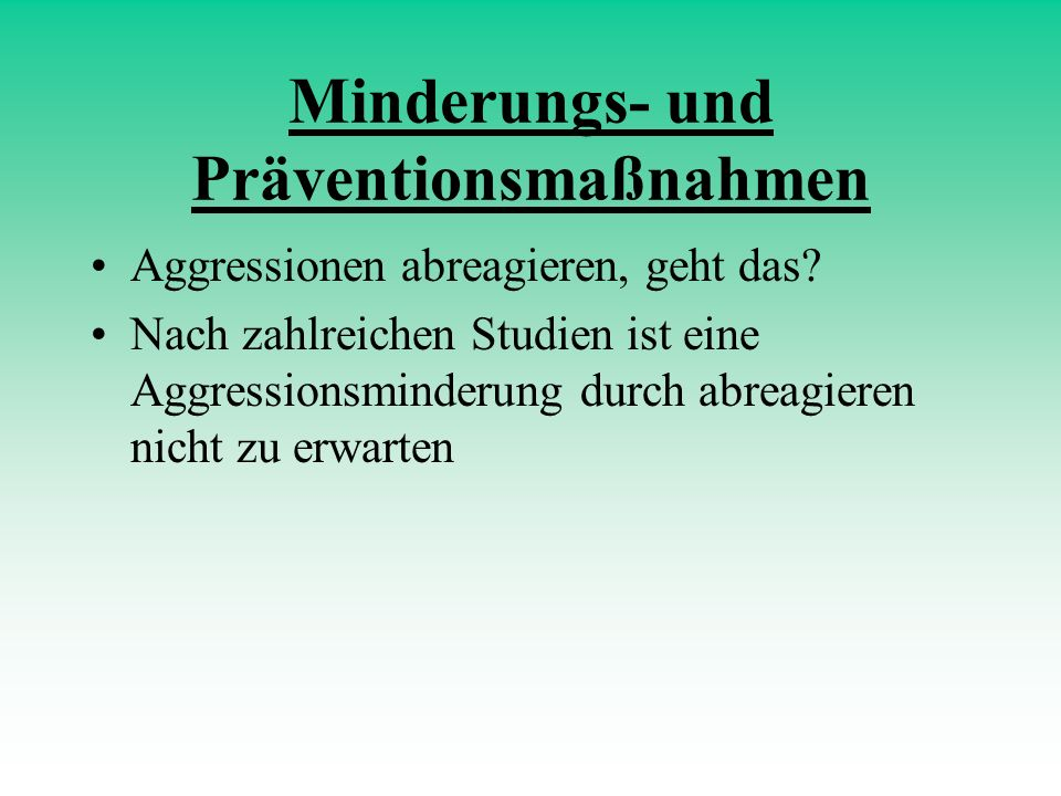 Minderungs- und Präventionsmaßnahmen