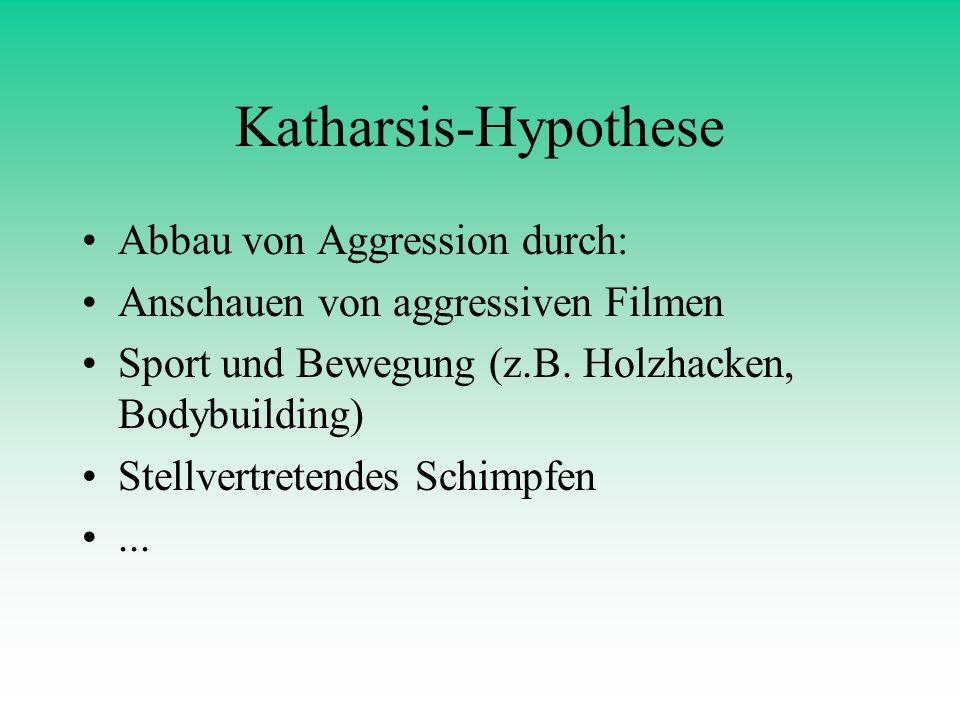 Katharsis-Hypothese Abbau von Aggression durch: