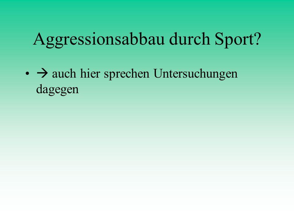 Aggressionsabbau durch Sport