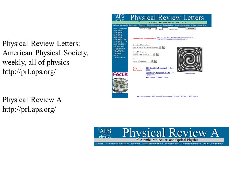 Physical Review Letters: