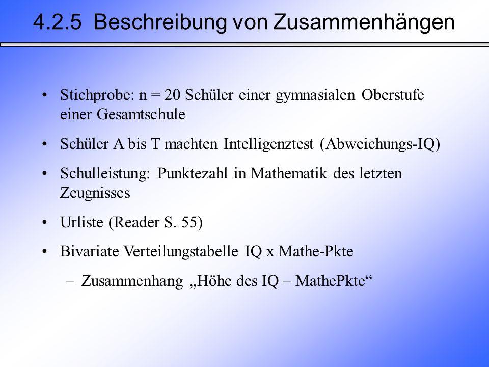 4.2.5 Beschreibung von Zusammenhängen