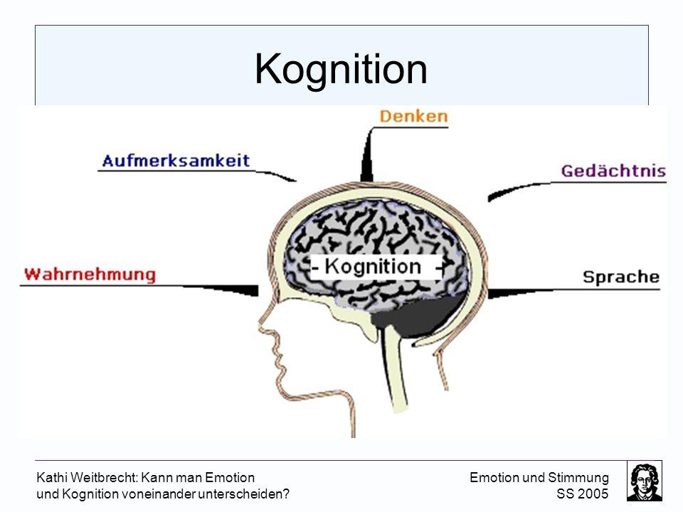 Kognition Kathi Weitbrecht: Kann man Emotion