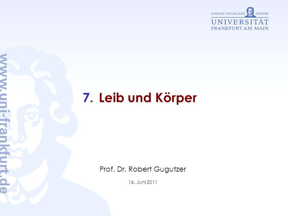Prof. Dr. Robert Gugutzer 16. Juni 2011