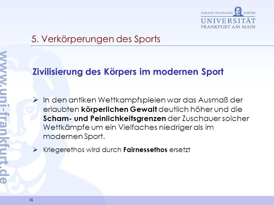 5. Verkörperungen des Sports